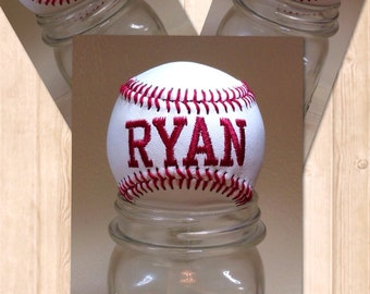 Personalized Embroidered Baseball