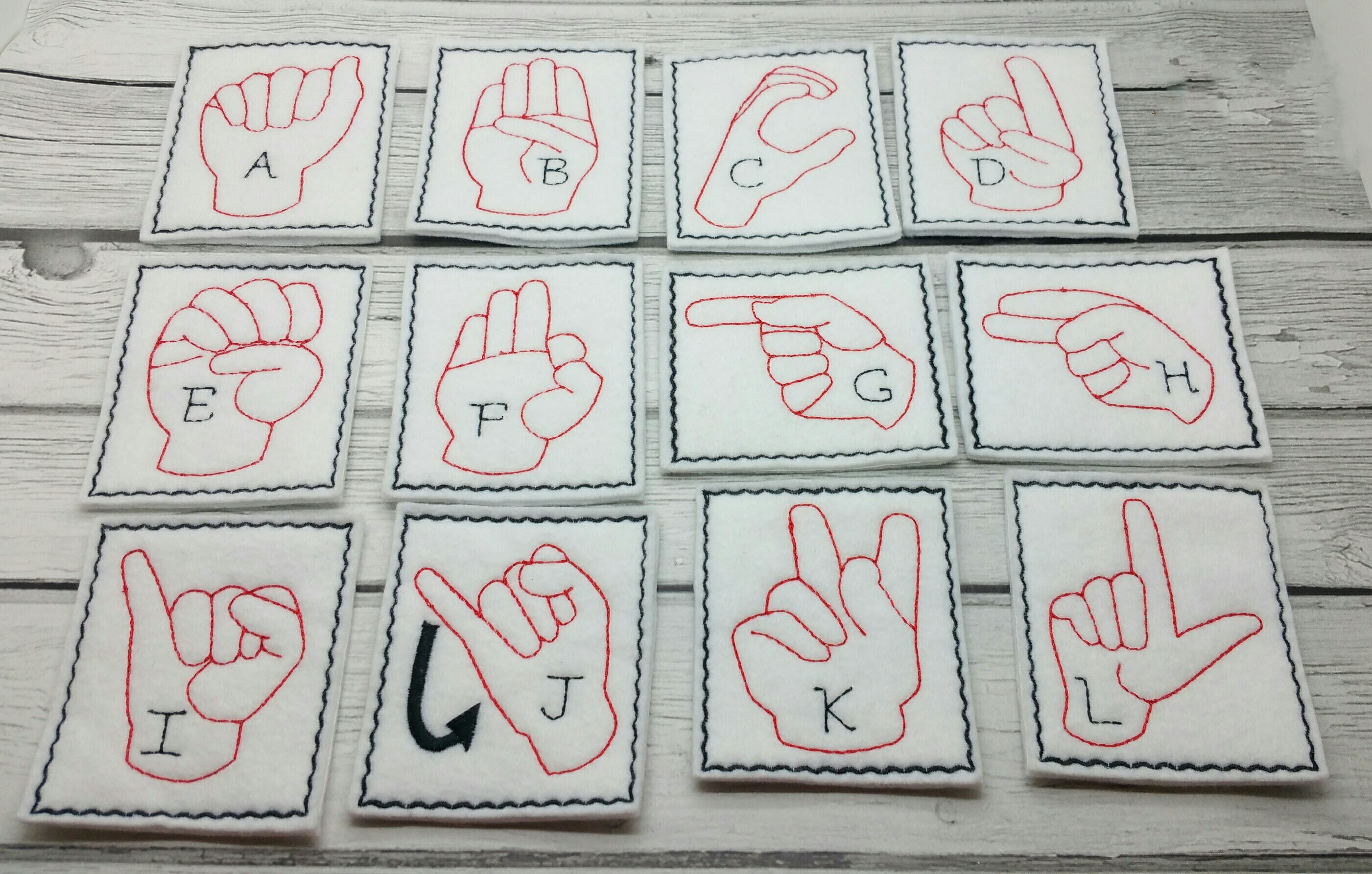ASL ABC sign language flash cards kids games busy bags