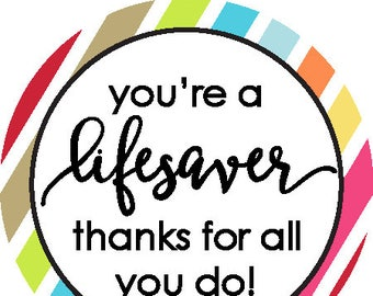 picture regarding You're a Lifesaver Printable called Youre a lifesaver Etsy
