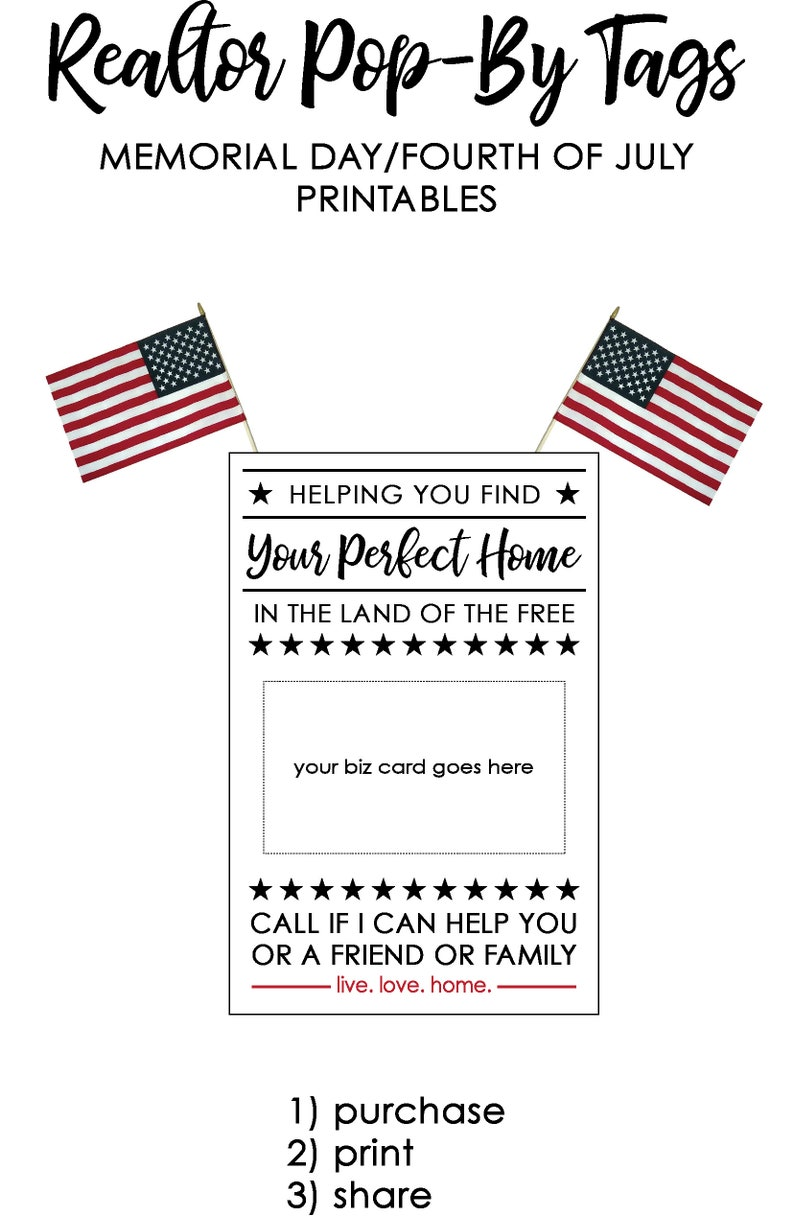 photo about Printable Pop by Tags known as Real estate agent Pop-Bys printable tags-Land of the Totally free