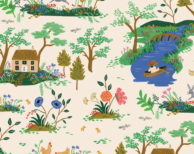 PRESALE: Garden Toille (cream fabric) from English Garden by Rifle Paper Co.