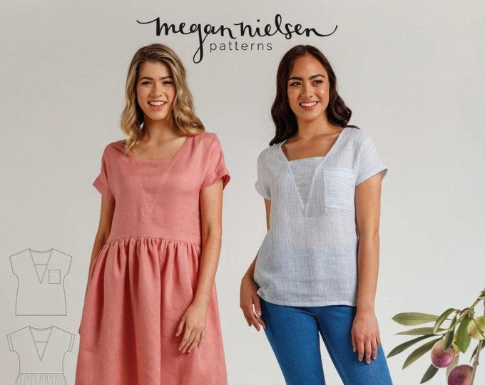 Olive Dress Paper Pattern by Megan Nielsen Patterns