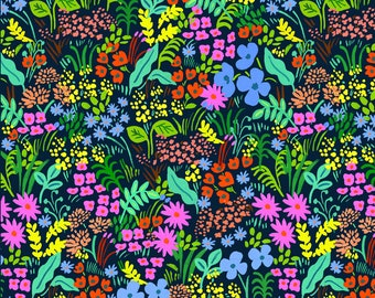 Meadow (navy fabric) from English Garden by Rifle Paper Co.