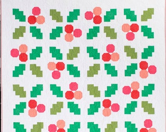 Quilt Kit: Holly Jolly Quilt by Then Came June