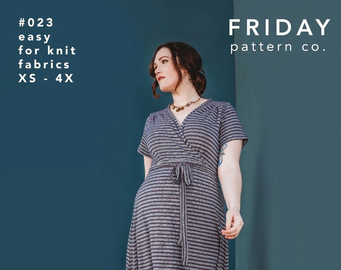 The Westcliff Dress Paper Pattern by Friday Pattern Company