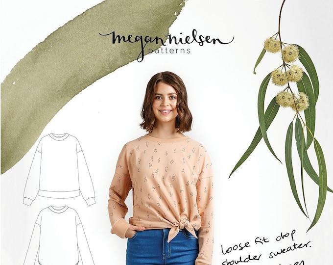 Jarrah Sweater Paper Pattern- Megan Nielsen Patterns