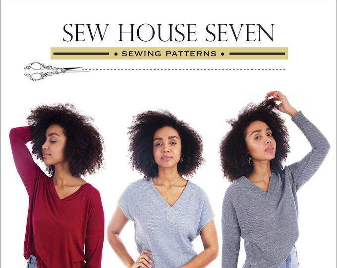 The Tabor V-Neck by Sew House Seven