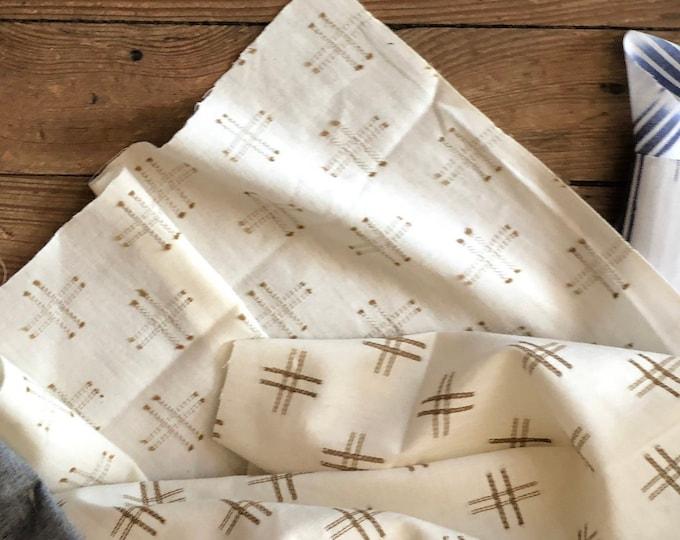Boro Woven in Flax (Crosshatch) by Moda Fabrics