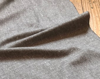 Cotton Wool Twill Tweed in Gray