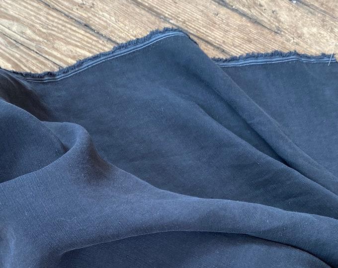 Cupro Tencel Linen in BLACK by Telio