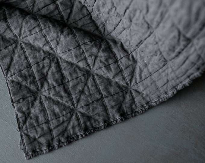 Arlo Grey Jacquard Cotton by Merchant & Mills