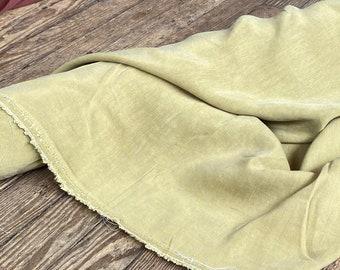 Cupro Tencel Linen in SULFUR by Telio