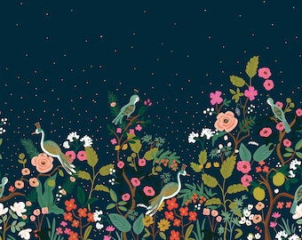 PRESALE: Growing Garden (navy METALLIC) from English Garden by Rifle Paper Co.