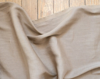 Linen/Lycra Blend in Tan