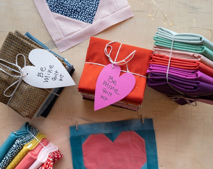Quilt Kit: Be Mine Quilt by Pen + Paper Patterns