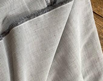 Light  Grey Linen Blend Ticking Made in Italy