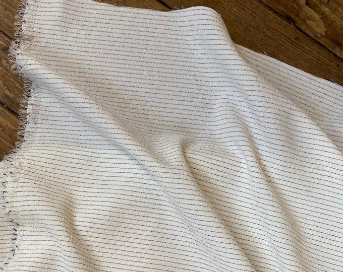 Pinstripe Yarn Dyed Rayon in Black on White