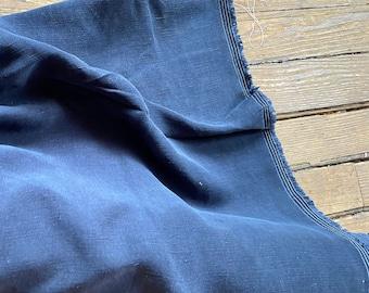 Cupro Tencel Linen in NAVY by Telio