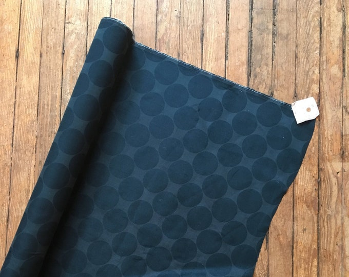 Circle Print Corduroy in Navy by Hokkoh