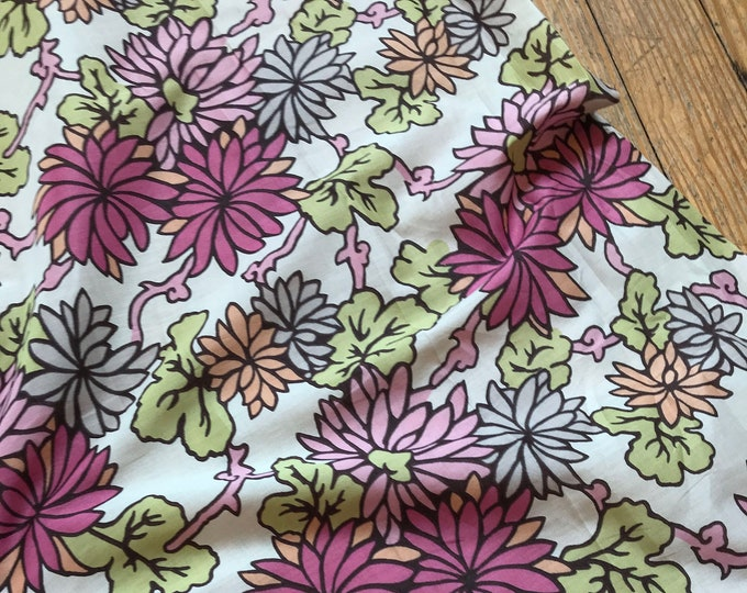 Liberty of London Pink Floral on White Cotton Lawn
