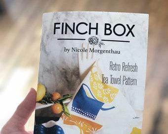 Retro Refresh Tea Towel by The Finch Box