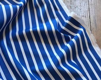 Summer Stripe in Blue Cotton