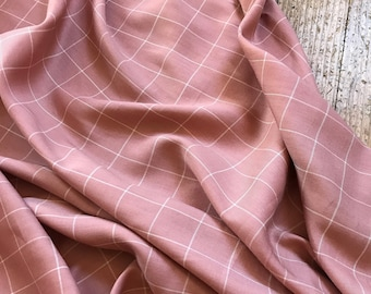 Rayon Window Pane in Pink