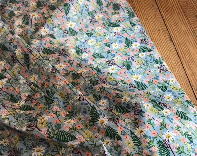 Wildflowers in Periwinkle Lawn for Wildwood Collection by Rifle Paper Co.