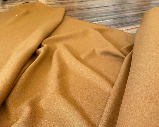 Raw Silk Noil in Caramel