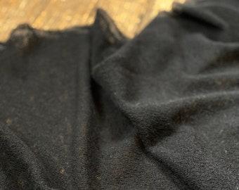 100% Italian Wool Knit in Black