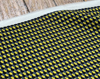 Geometric Print on Wool in Yellow, Green, Black