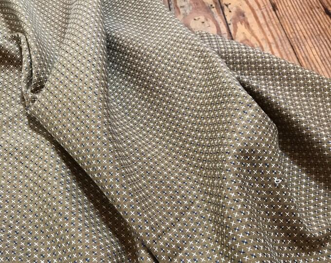 Boro Woven Cross Stitch in Flax by Moda Fabrics