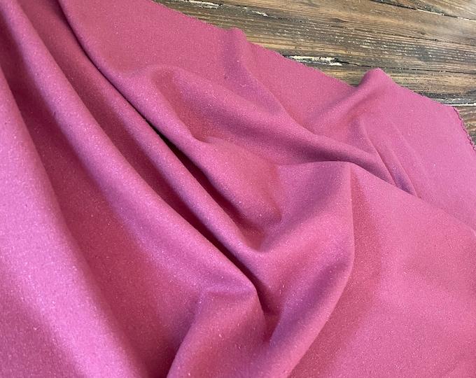 Raw Silk Noil in Dried Rose