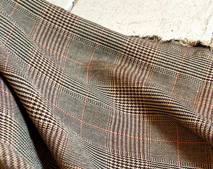 Plaid Cotton Lightweight Suiting