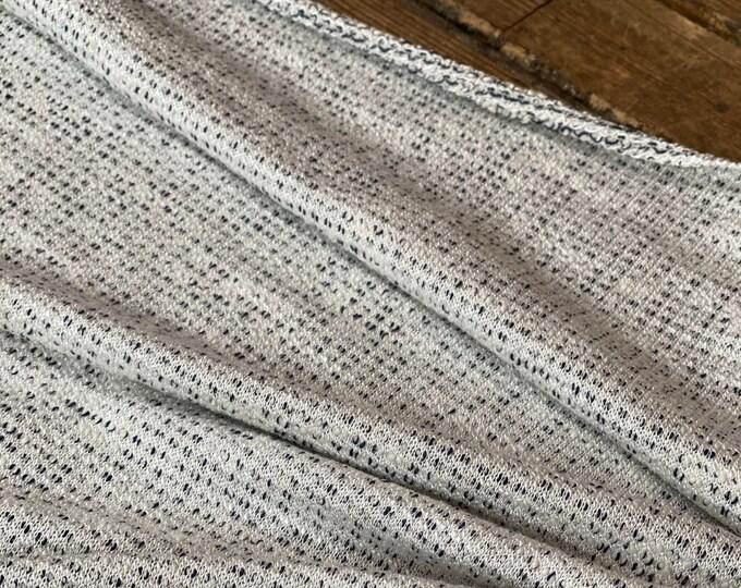 Nubby Knit in Gray - Cotton/Modal/Lycra - Reversible
