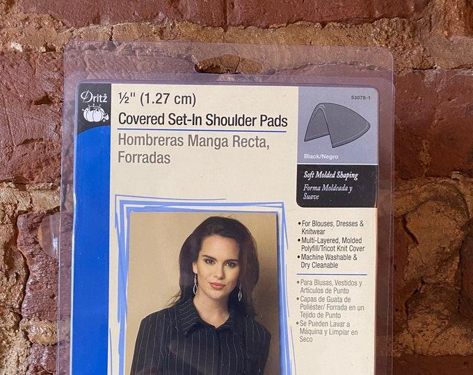"""Covered Set-IN Shoulder Pads from Dirtz - 1/2"""" Black"""