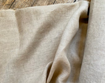 Linen Lycra Blend in Natural