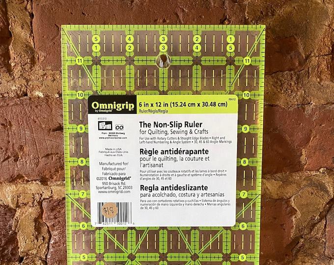 """Omnigrip Non-Slip Acrylic 6"""" x 12"""" Ruler"""