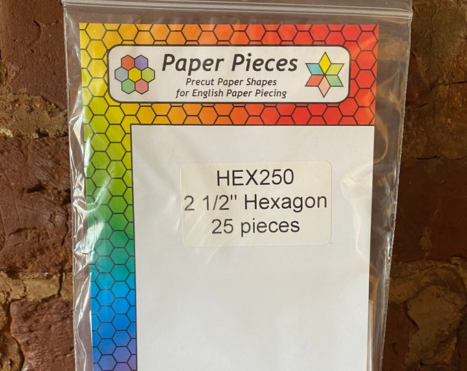 "2 1/2"" Hexagon Paper Pieces - 25pcs."