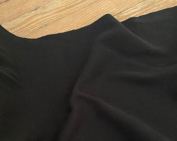 Black Knit Cotton Ribbing