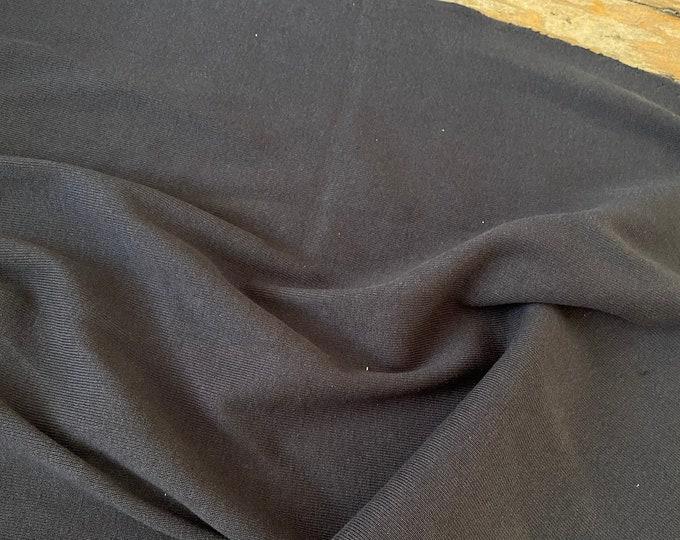 Charcoal Gray Knit Cotton Ribbing