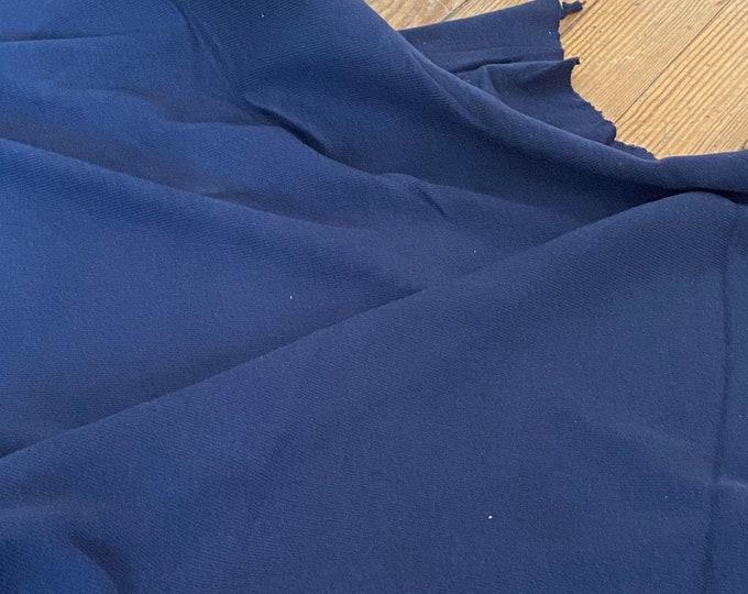 Navy Knit Cotton Ribbing
