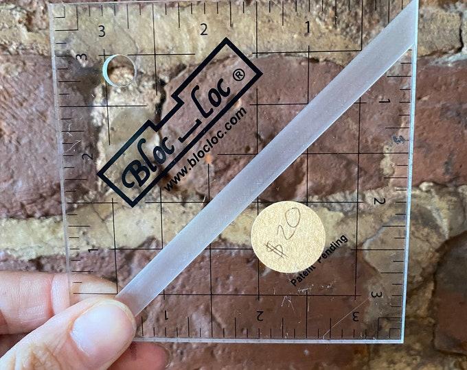 """Bloc Loc Half Square Triangle Ruler - 3 1/2"""""""