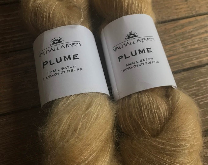Plume in Wheat by Valhalla Farm Fiber