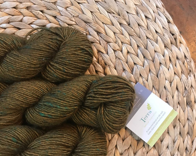 Terra in Tea Tree - Aran Weight - Alpaca/Wool/Silk - The FIBRE Co.