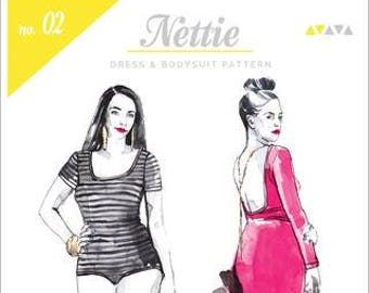 Nettie Bodysuit Paper Pattern- Closet Case Patterns