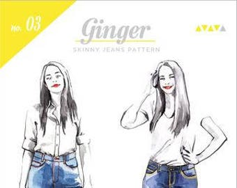 Ginger Jeans Paper Pattern- Closet Case Patterns