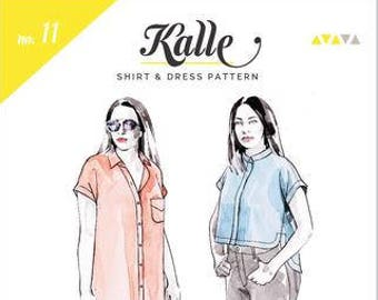 Kalle Shirtdress Paper Pattern- Closet Case Patterns
