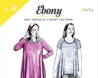 Ebony Knit Dress and Tee- Closet Case Patterns