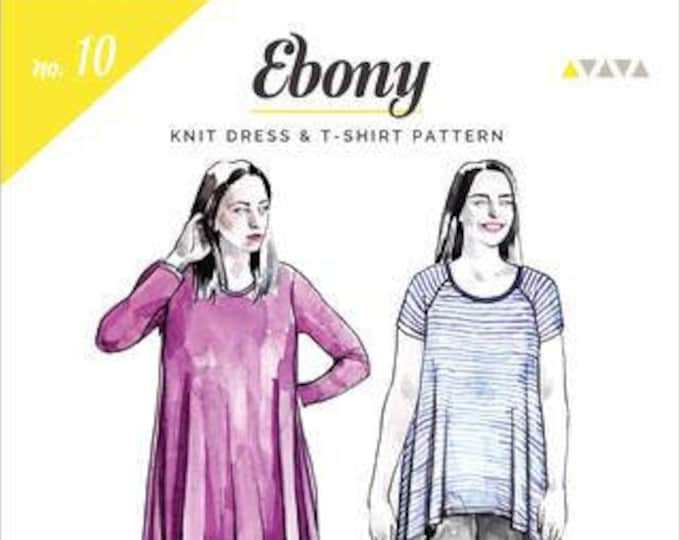 Ebony Knit Dress and Tee- Closet Core Patterns